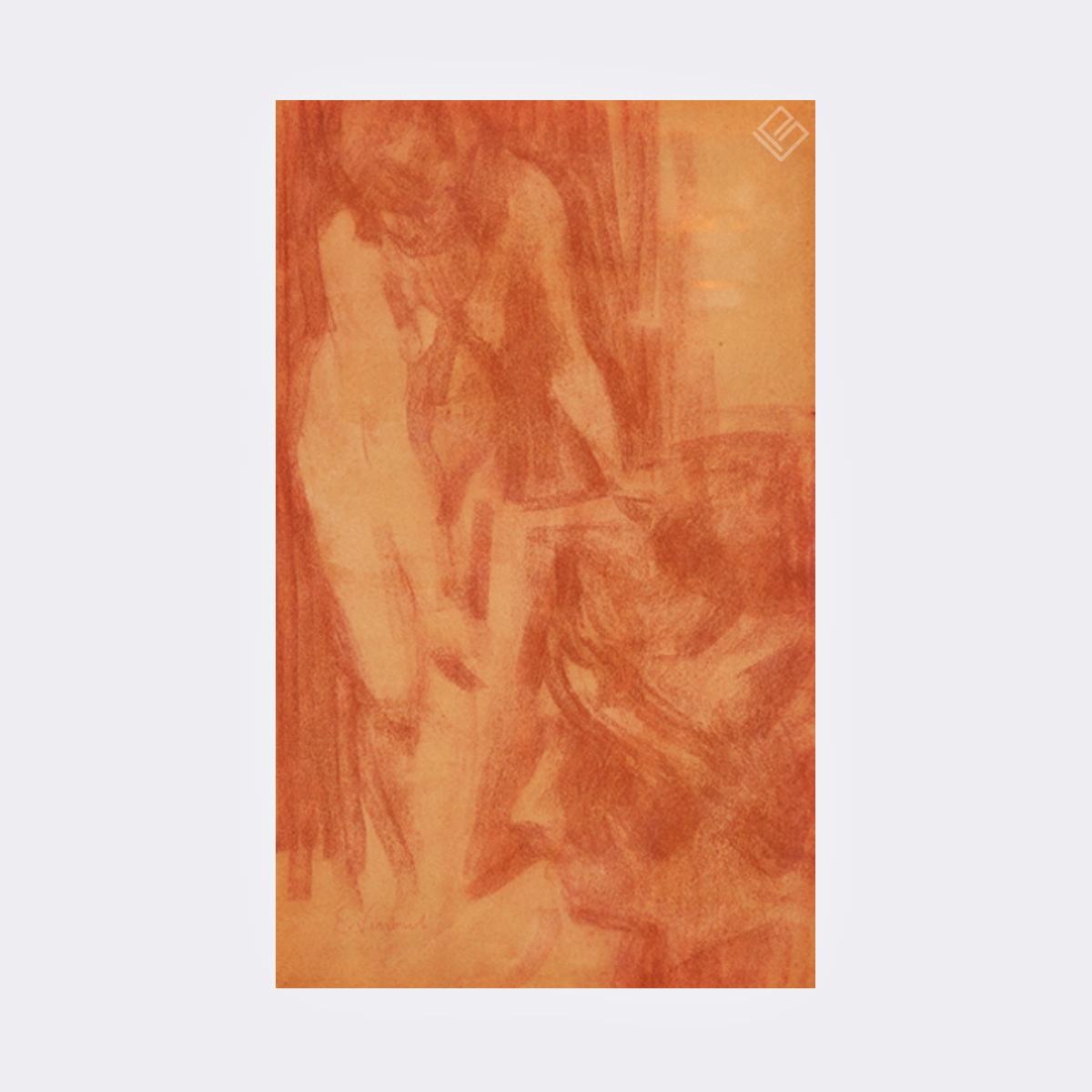 GP-P21009 – Eliseu Visconti – Nu e Rosto – Sanguinea 42,5×25,5cm site1