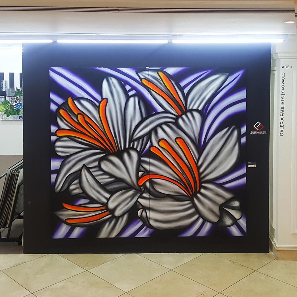 Max Demiam Flowers Galeria Paulista Street Art 2