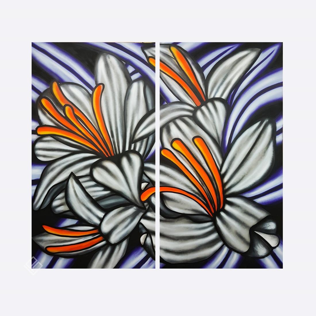 GP-P21044 Max Demiam – Flowers TMSP – Diptico 2,20×2,40m