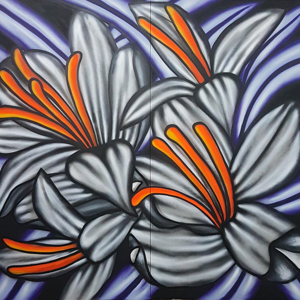 Max Demiam Flowers Galeria Paulista Street Art Díptico