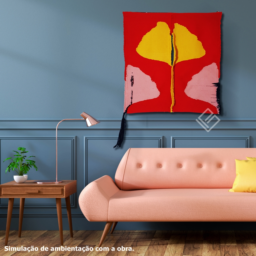 Modern interior of living room, Pink sofa on wood flooring and dark gray wall ,3d rendering