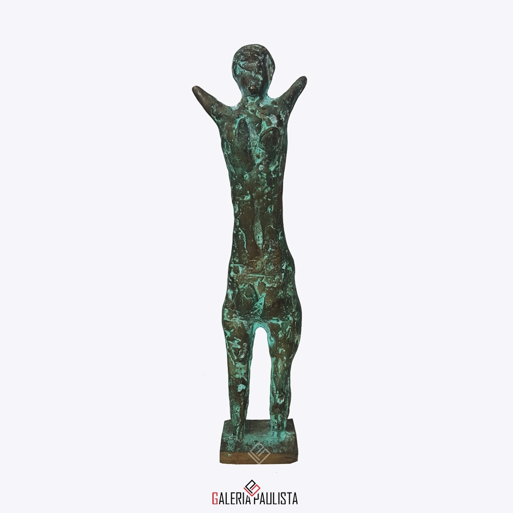GP-E11005 – Francisco Stockinger – Escultura Bronze Guerreira 30cm (1)