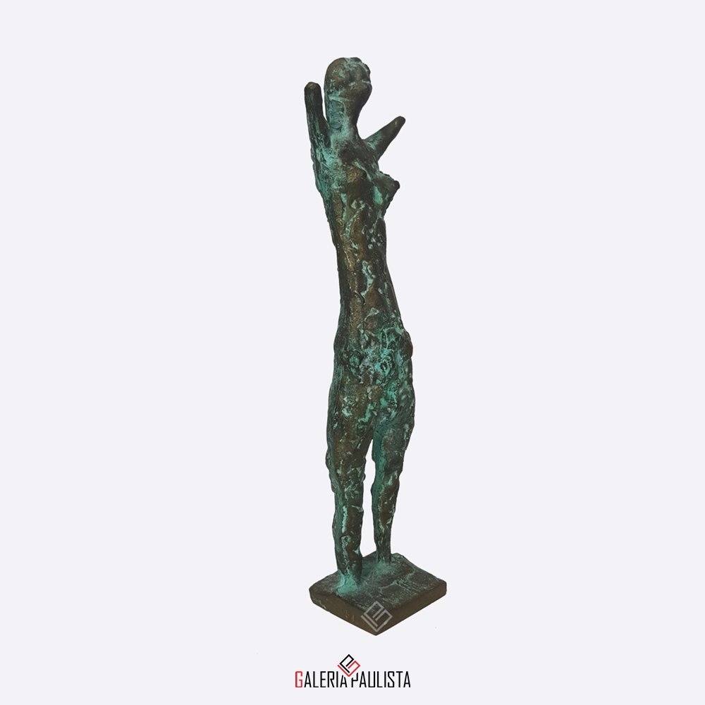 GP-E11005 – Francisco Stockinger – Escultura Bronze Guerreira 30cm (2)