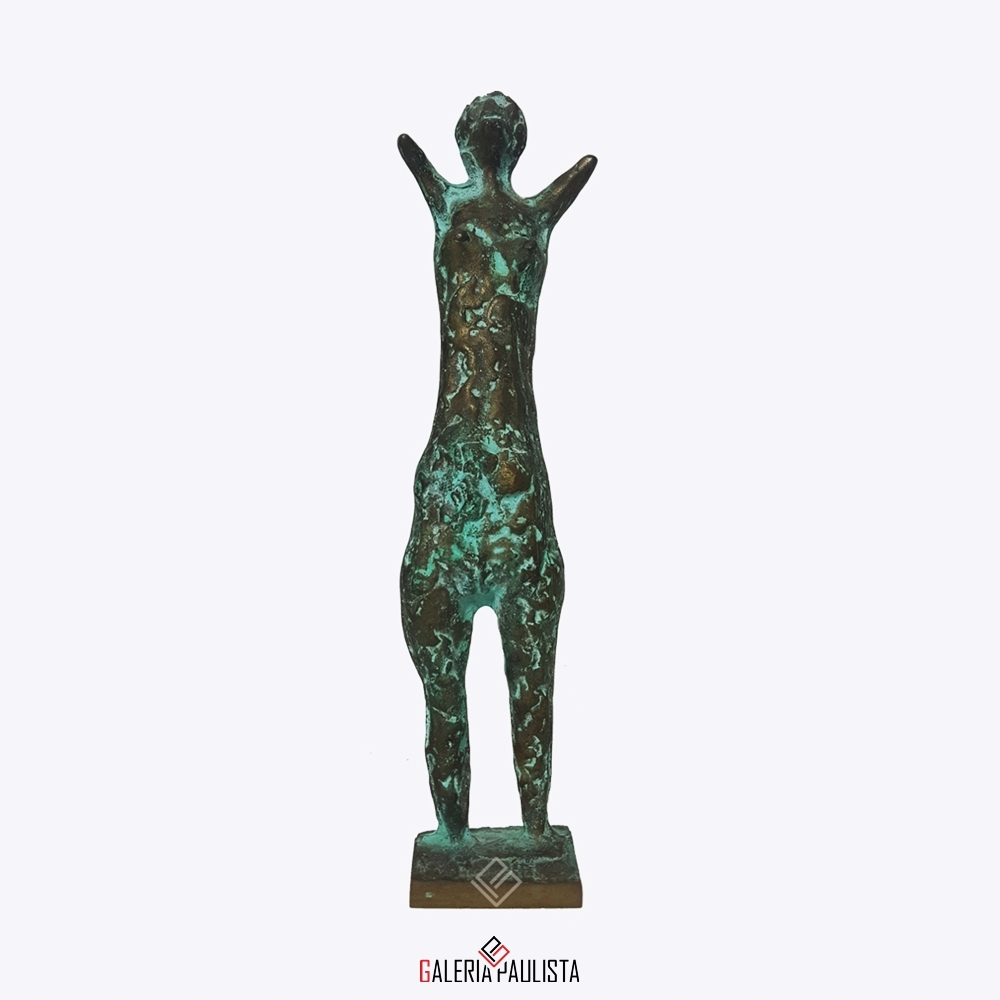 GP-E11005 – Francisco Stockinger – Escultura Bronze Guerreira 30cm (3)
