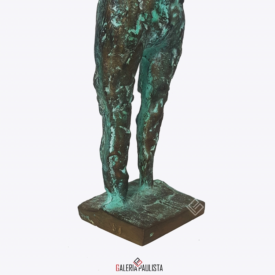 GP-E11005 – Francisco Stockinger – Escultura Bronze Guerreira 30cm (5)