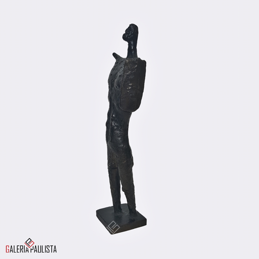 GP-E11006 Francisco Stockinger Escultura Bronze Guerreiro 30cm a
