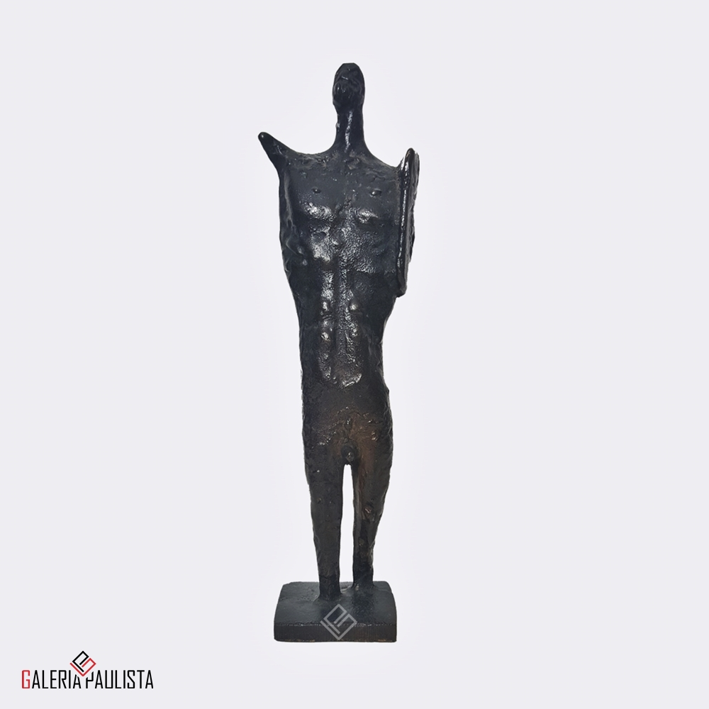 GP-E11006 Francisco Stockinger Escultura Bronze Guerreiro 30cm d
