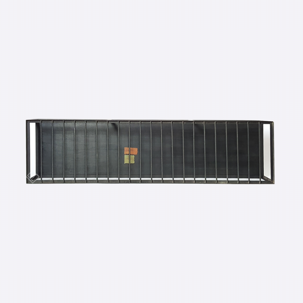 GP-M41004 Abraham Palatnik – Aparador Ferro e Tampo Vidro Vermelho 1,21 x 18 x 31cm (3)