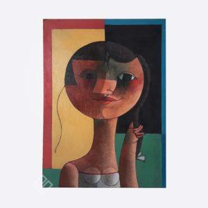 Inos corradin quadro óleo sobre tela certificado galeria paulista monica