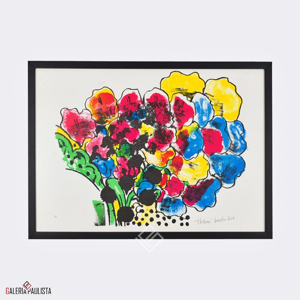 GP-G31008 Aldemir Martins – Serigrafia Flores 36×50 serie PA