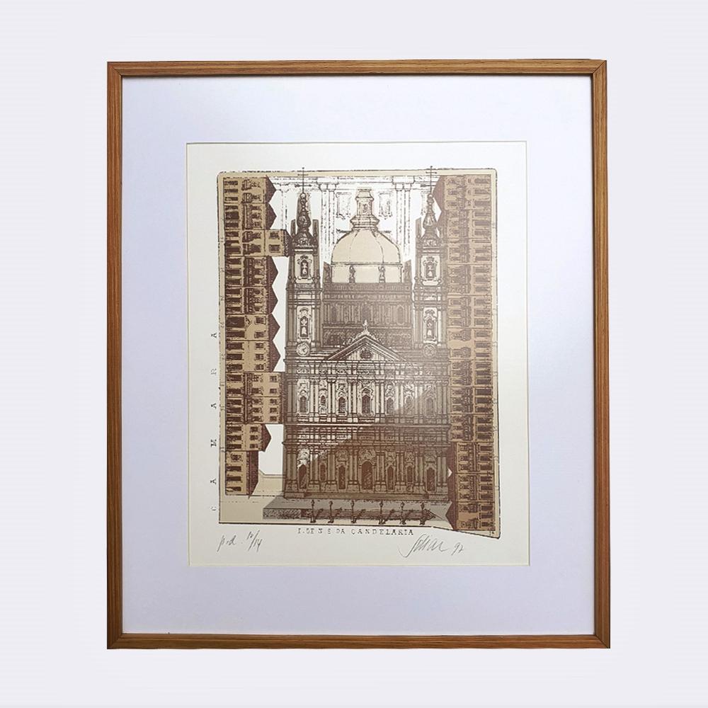 Carlos Scliar – Serigrafia Igreja Galeria Palista