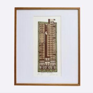Carlos Scliar - Serigrafia Palacio Imperial Galeria Palista a