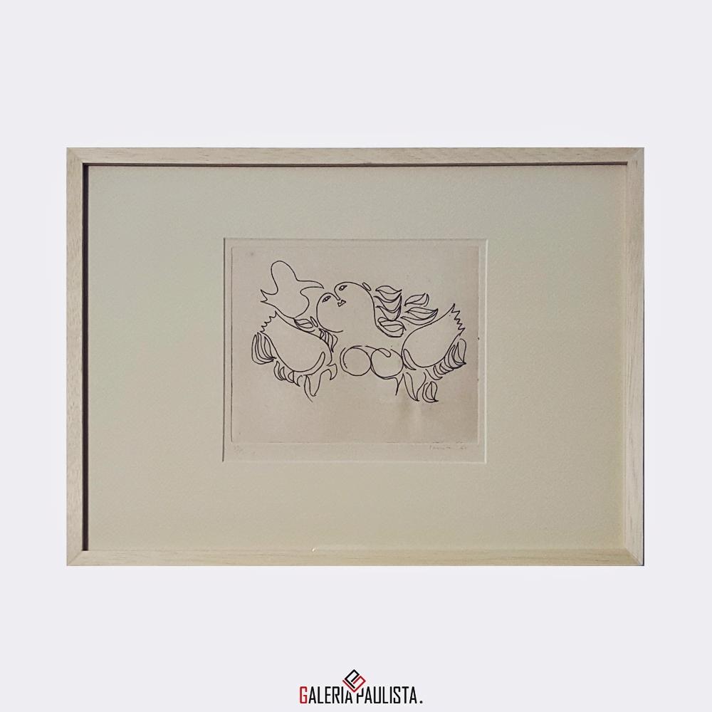 GP-G31018 Milton Dacosta-Gravura Venus e Passaro-26×36 galeria paulista 3