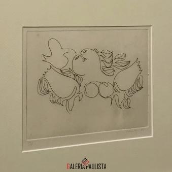 GP-G31018 Milton Dacosta-Gravura Venus e Passaro-27×37 galeria paulista 1