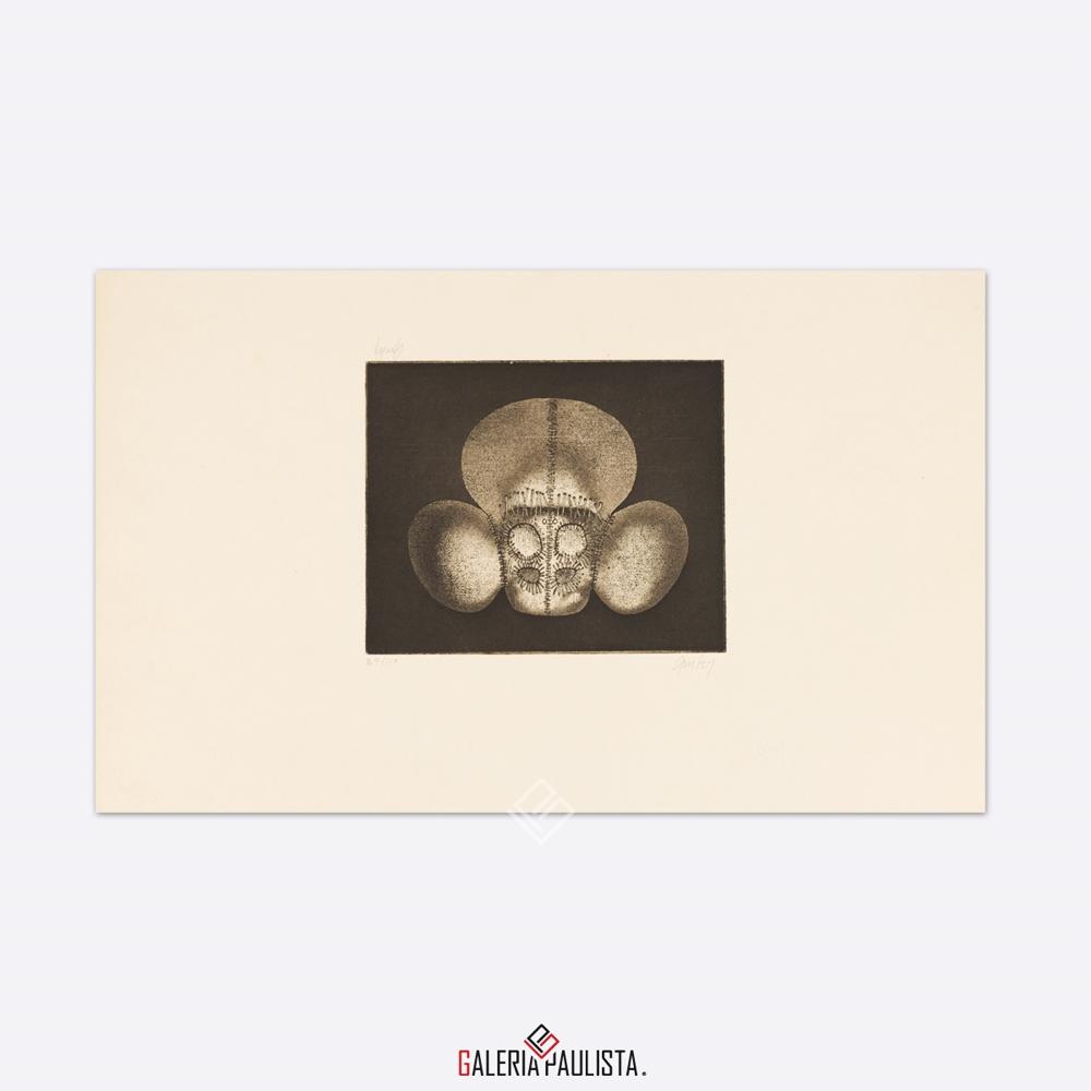 GP-G31041 Mário Gruber – Figura gravura 30×50 serie 34 galeria paulista b