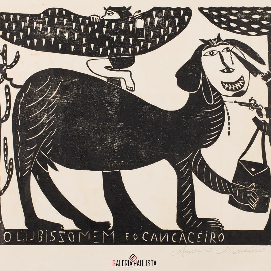GP-G31047 Amaro Francisco Borges-Xilogravura Lubissomem 48×66 galeria paulista 2
