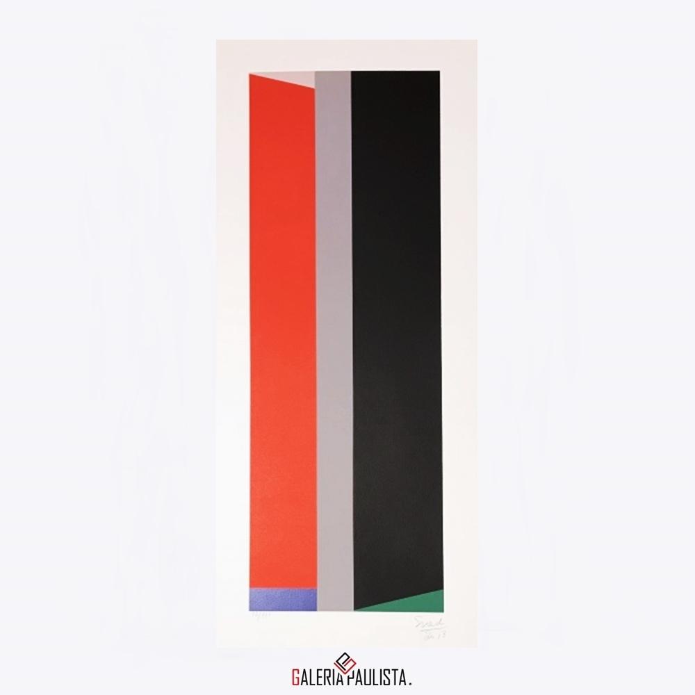 GP-G31048 Eduardo Sued-Geometrico Gravura serie 92 galeria paulista
