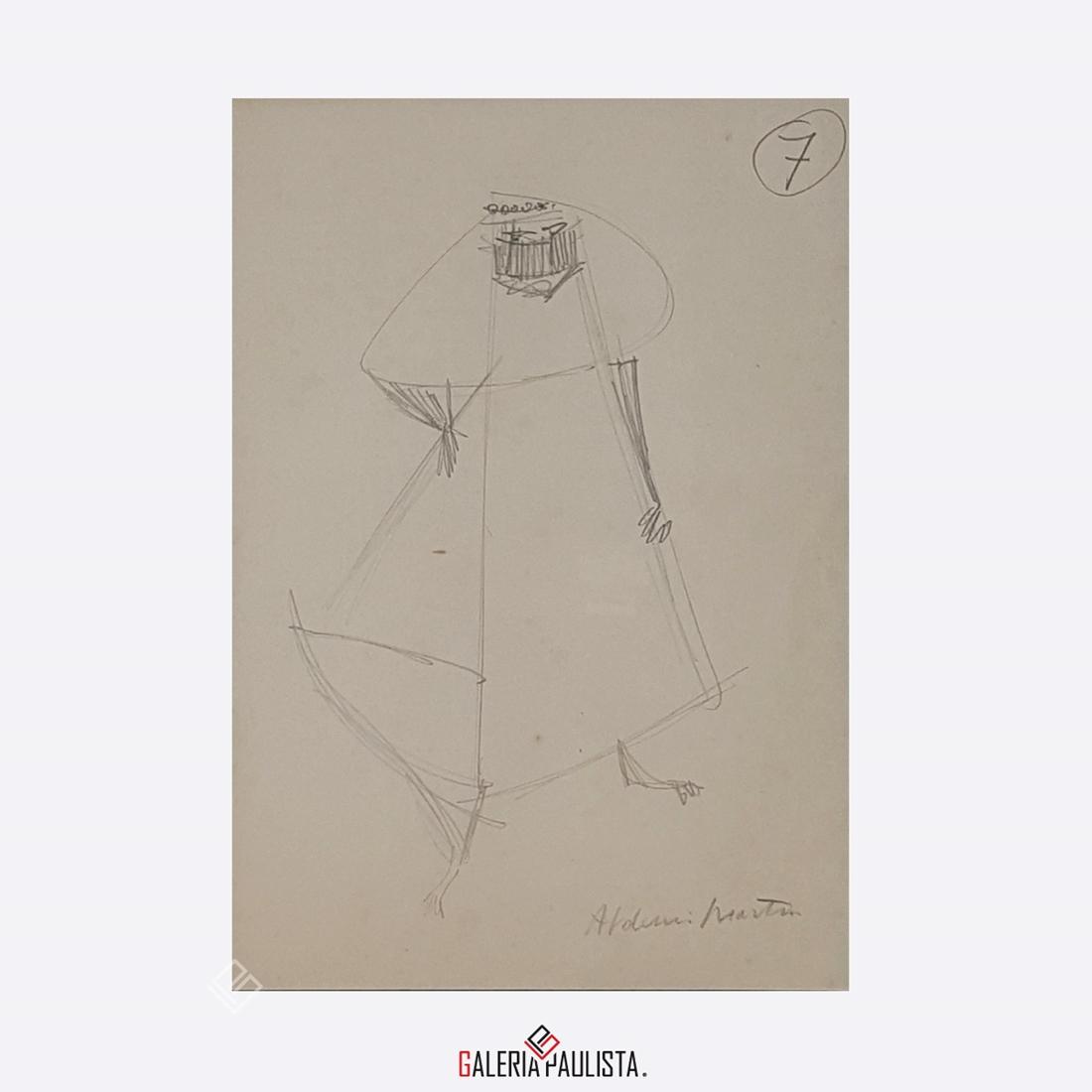 GP-P21051 Aldemir Martins Figura desenho 33×24 galeriapaulista 2