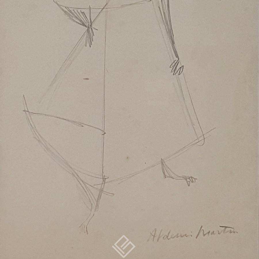 GP-P21051 Aldemir Martins Figura desenho 33×24 galeriapaulista 3