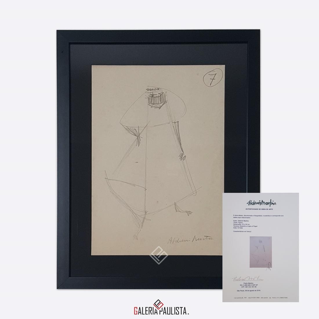 GP-P21051 Aldemir Martins Figura desenho 33×24 galeriapaulista certif