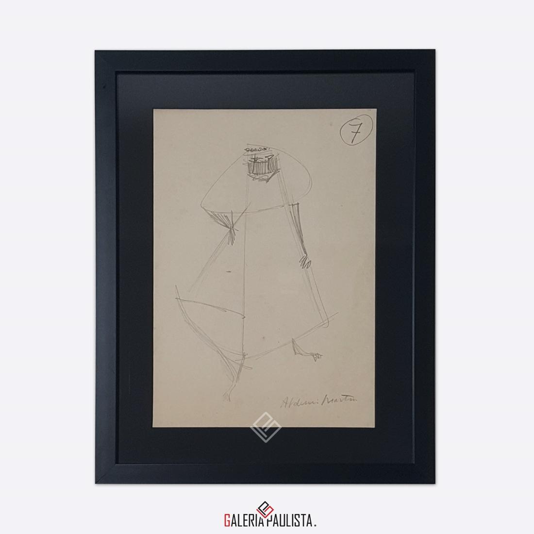 GP-P21051 Aldemir Martins Figura desenho 33×24 galeriapaulista