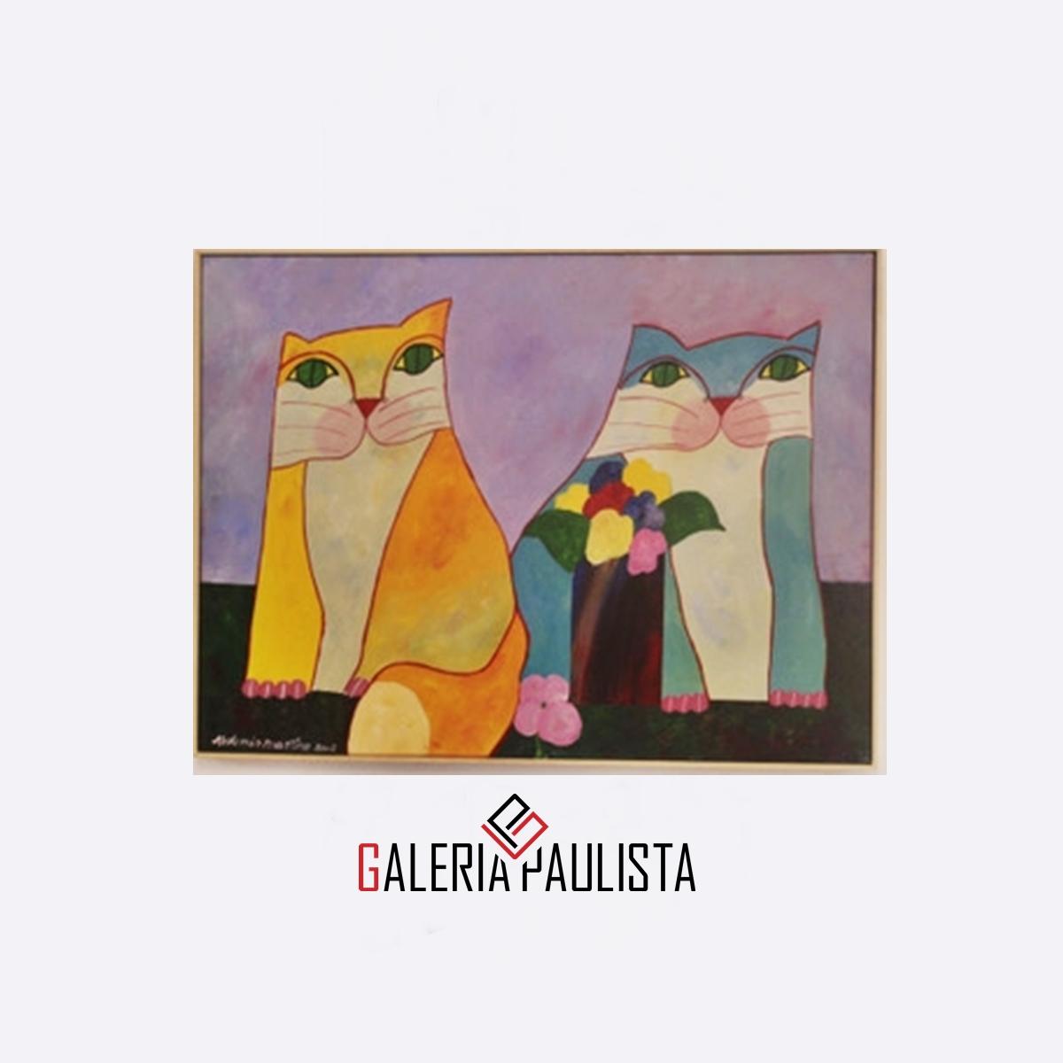GP-P21069-Aldemir-Martins-Casal-Gatos-Flores-60×80-Certificado-Galeria-Paulista-a