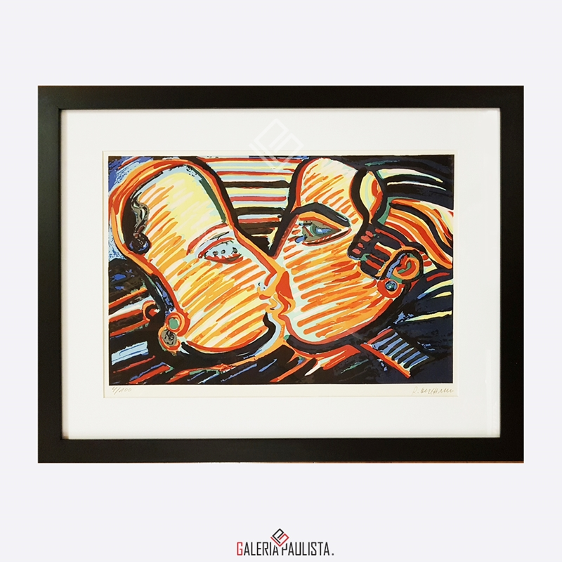 GP-G31060-Rubens-Gerchman-Casal-Beijo-Serigrafia-38×48-galeria-paulista-d