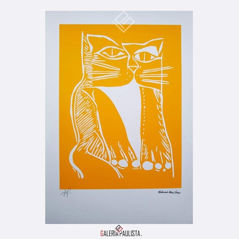 GP-G31086-Aldemir-Martins-Gato-Amarelo-Serigrafia-50×35-Galeria-Paulista-Arte