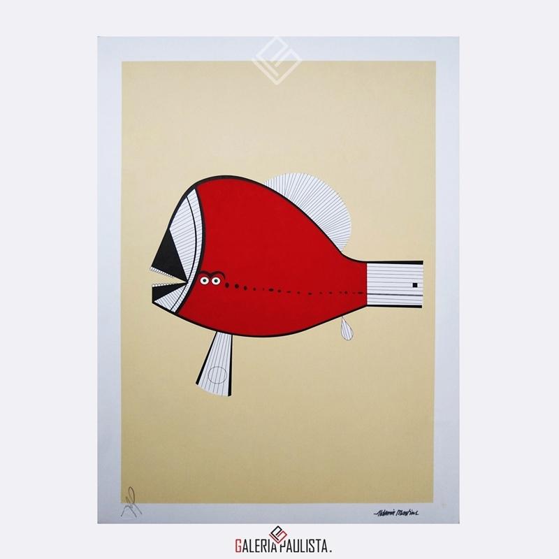 GP-G31088-Aldemir-Martins-Peixe-Vermelho-Serigrafia-50×35-Galeria-Paulista-Arte