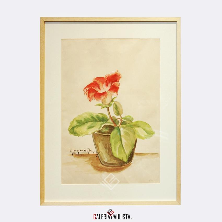GP-P21078-Georgina-de-Albuquerque-Vaso-Flor-Aquarela-37×32-Galeria-Paulista-Arte