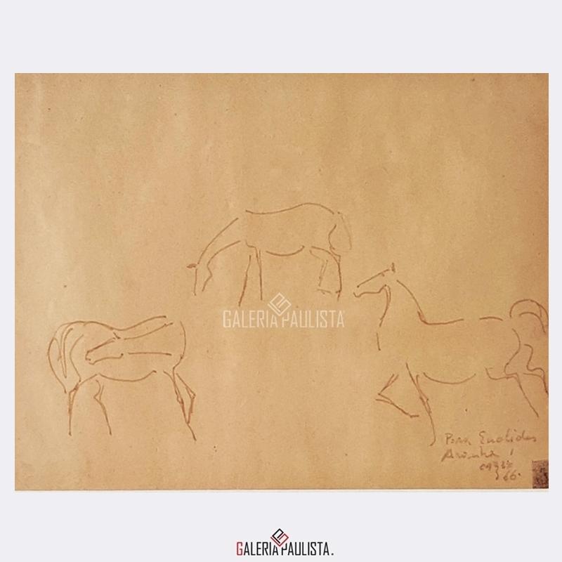 GP-P21169-Carybé-Cavalos-Nanquim-Papel-22×48-1966-Galeria-Paulista-Arte-3